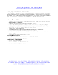 security officer resume sample job and resume template resume job description for security supervisor head security officer