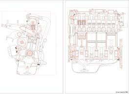 Курсовые и дипломные работы автомобили расчет устройство  Чертежи Двигатель ВАЗ 2108
