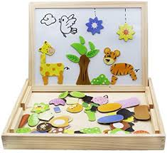 Wooden Toys Magnetic Puzzles Kids Wooden Games ... - Amazon.com