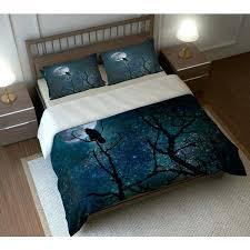gothic bedding sets bedding duvet comforter cover set raven crow tree moon night gothic bedding sets gothic bedding sets