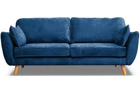 connection zinc blue fabric 3 seater