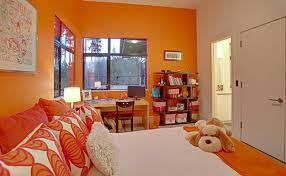 Forest House Bedroom Orange Color