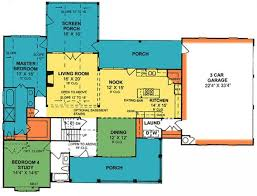 2 bedroom house plans with screened porch best of 4 bedroom 3 bath country farmhouse with