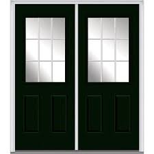 painted residential front doors. 60 In. X 80 White Internal Grilles Right-Hand Inswing 1/ Painted Residential Front Doors