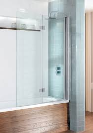 simpsons design view double bath shower screen dual inward opening