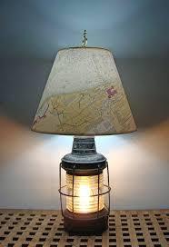 coastal lamp shades nautical table re purposed anchor lantern lamps lighting north coast coastal lamp shades