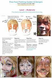 how to face paint a dog