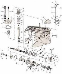 omc cobra outdrive parts drawings sterndrive tools lower unit exploded view
