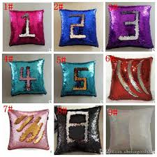 small pillow covers. Contemporary Pillow Sequin Pillow Case Cover Mermaid Glitter Reversible Sofa Magic  Double Swipe Cushion 23 Design Pattern Small  And Covers