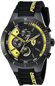 men s scuderia ferrari red rev evo black chronograph watch 830261