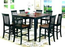 pub table seats 6 kitchen chairs set tall gathering round height and dining diamond tabl