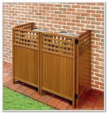 outdoor trash can storage ideas enclosure wood garbage