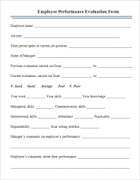sample employee evaluations sample employee evaluations