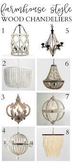 8 farmhouse style wood chandeliers