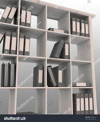 office book shelf. 3d Image Of Office Bookshelf With Folders Book Shelf H