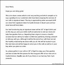business closing letter business closing letter to customers lovely closing business letter