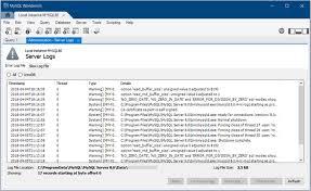 Mysql Mysql Workbench Manual 6 1 1 Server Logs