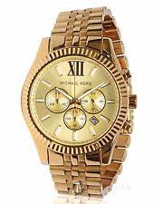 michael kors men s watch in gold new mens michael kors mk8281 oversized lexington gold tone dial watch