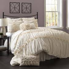 ivory king comforter set lush decor darla 4 piece ping 9
