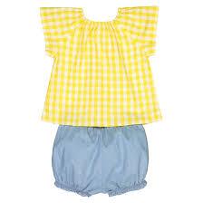 <b>Комплект раздельный из блузы</b> и шаровар 1 мес-3 лет желтый ...