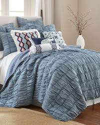 Exclusively Ours - River Blue Solid Quilt Collection-Bedding ... & Exclusively Ours - River Blue Solid Quilt Collection-Bedding  Collections-Nina Campbell Home-Featured Brands-Bed & Bath | Stein Mart Adamdwight.com