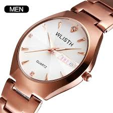 <b>WLISTH</b> Fashion <b>Steel Belt</b> Couple Style Watch Double Calendar ...