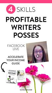 best ideas about writing jobs creative writing 4 skills profitable lance writers possess video