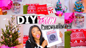 diy holiday room decorations easy tumblr christmas room youtube