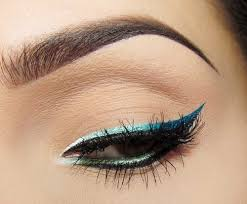 we do the ombre look on our hair lips and nails so why not use it in our eye makeup first grab two diffe colors of eye liner