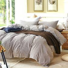 Gray Plaid Duvet Cover Set For Single Or Double Bed 100 Cotton Bedcover  Plaid Bedding Grey