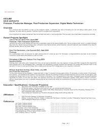 Film Resume Format Letter Example