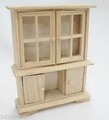 unfinished dollhouse furniture. dollhouse miniature furniture wooden hutch china cabinet unfinished wood