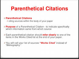 parenthetical citation of an essay in a book mla works cited page books the purdue university online