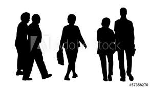 People Walking Outdoor Silhouettes Set 2 Buy This Stock