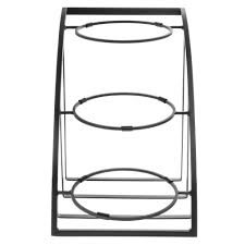 Large Bowl Display Stand CalMil Mission Style Collection 100Tier Black Metal Bowl Display 29