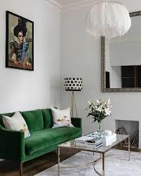 emerald green sofa. Delighful Sofa Chic Eclectic Living Room With Emerald Green Sofa Inside Emerald Green Sofa