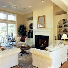 Built in Cabinets Around Fireplace Family Room Traditional with Fireplace