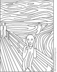 the scream coloring sheet.  Scream For The Scream Coloring Sheet R