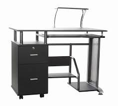 innovex glass computer desk black new oak puter desk