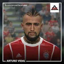 Pes 2017 Arturo Vidal Face By Ahmed Update 02 04 2018 Pes Club