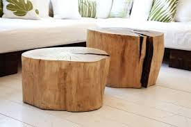 tree trunk coffee table stump base uk