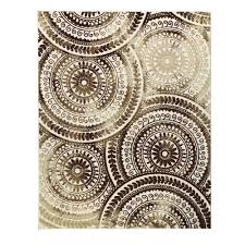 home decorators collection spiral medallion ivory brown 8 ft x 10 ft area