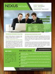 Elegant Playful Finance Brochure Design For Nexus Partners