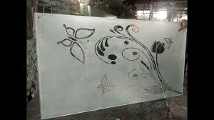 frosted glass design etching sandblasting glass design