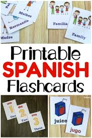 Note Card Maker Printable Printable Spanish Flashcards Look Were Learning