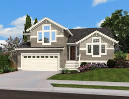 Split Level Home Plan for Narrow Lot - 23444JD | Architectural Designs -  House Plans