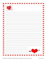 Free Writing Paper Valentines Day Writing Paper For Kids Free Printable