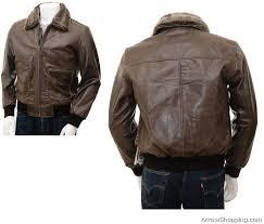 mens brown leather flying jacket sheep 67698681 zoom helmet