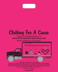 Donation Companies That Pick Up Charity Clothing Pickup Collecting Clothing For A Cause