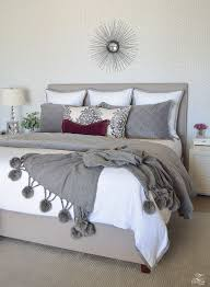 maroon and white bedroom. Modren Maroon ZDesign At Home FallWinter Master Bedroom Updates Throughout Maroon And White O